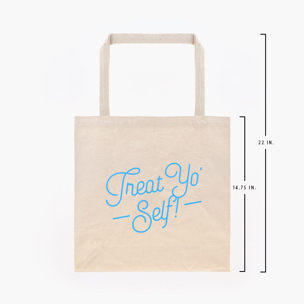 Treat Yo Self Canvas Tote Bag