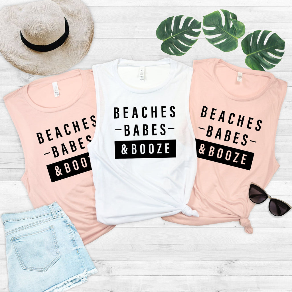 Beaches Babes Booze Muscle Tee