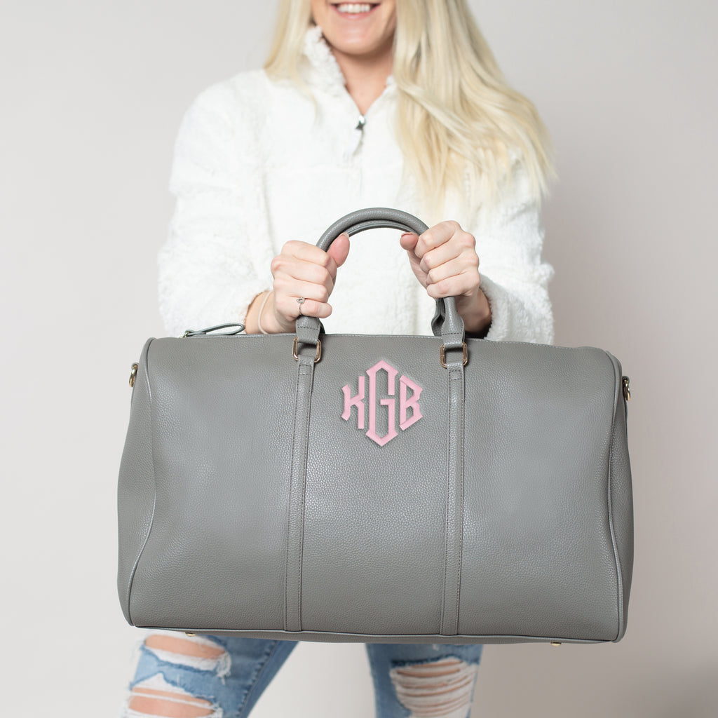 Embroidered Weekender Bag