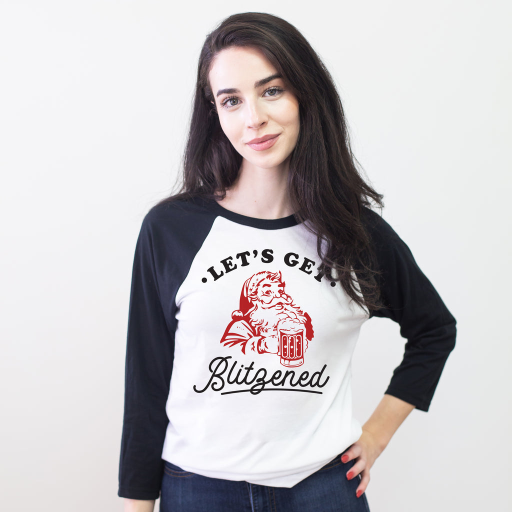 Let's Get Blitzened Christmas Baseball Tee