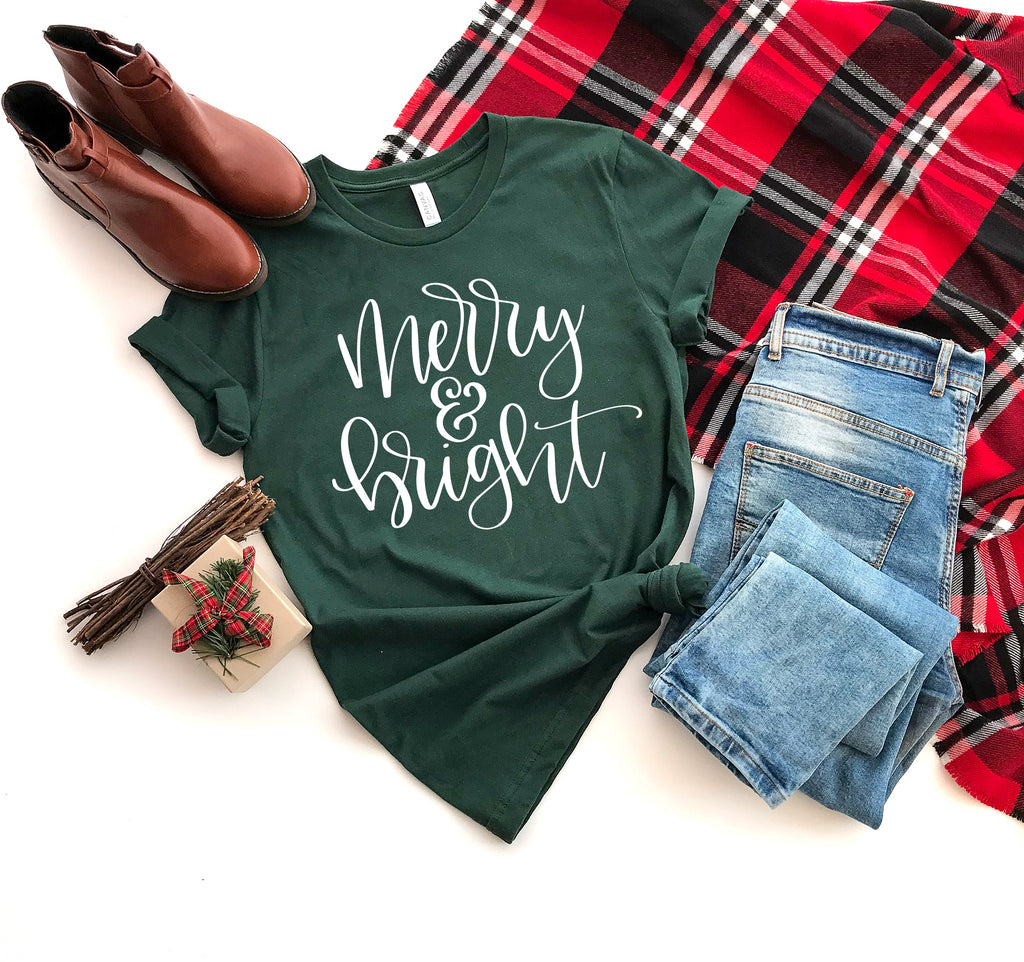 Merry and Bright Christmas Tee