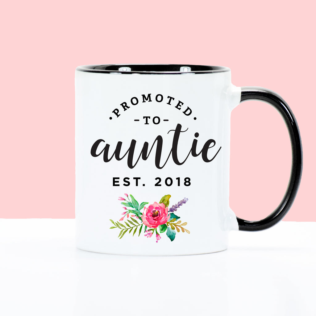 Promoted to Auntie - Floral