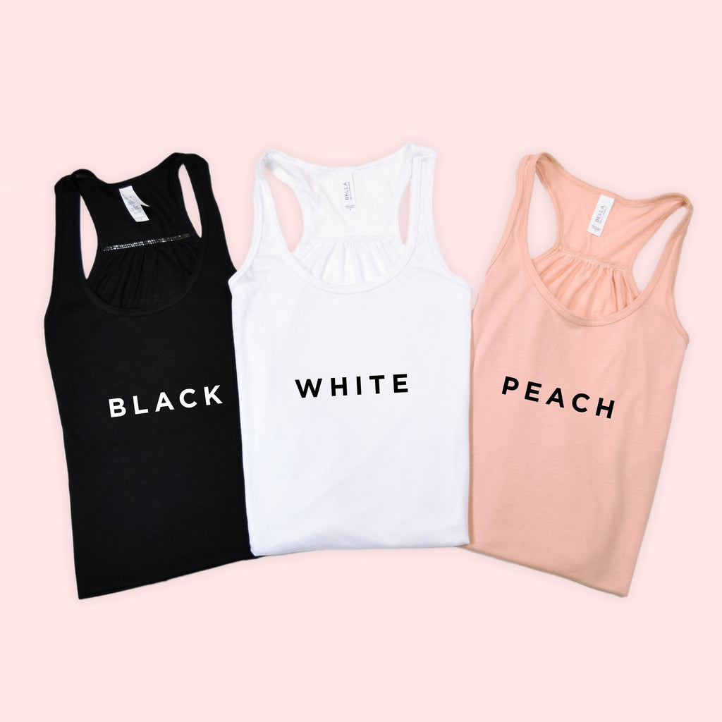 Bridal Racerback Tanks