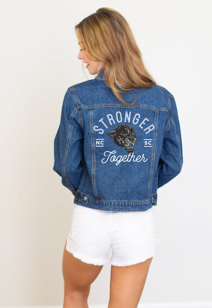 Embroidered Gameday Denim Jacket