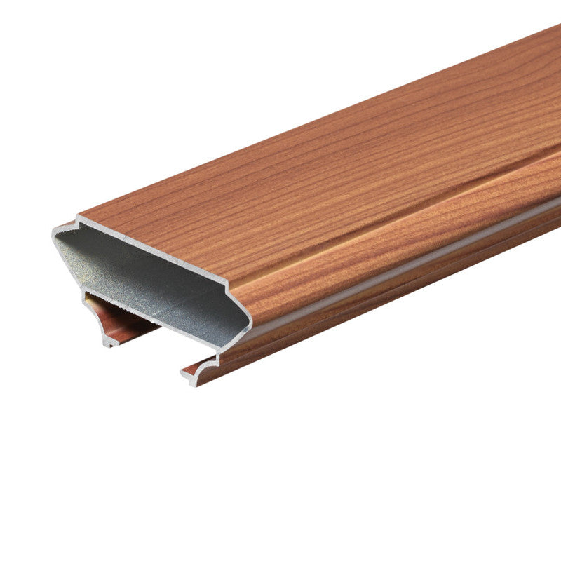 Aluminum Cap Rail - Wood Grain Finish