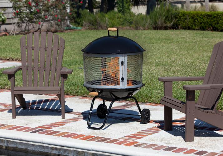 Fire Sense 28 inch Bon Fire Patio Fireplace , Well Traveled Living- grayburd