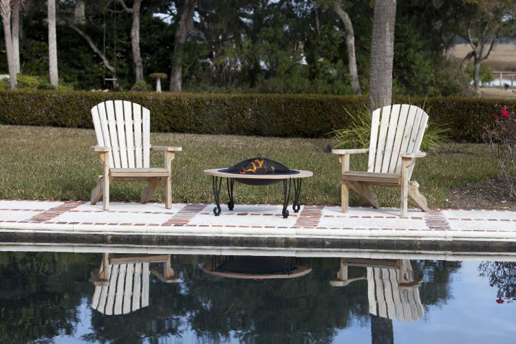 Cast Iron Rim Stone Finish Fire Pit , Well Traveled Living- grayburd