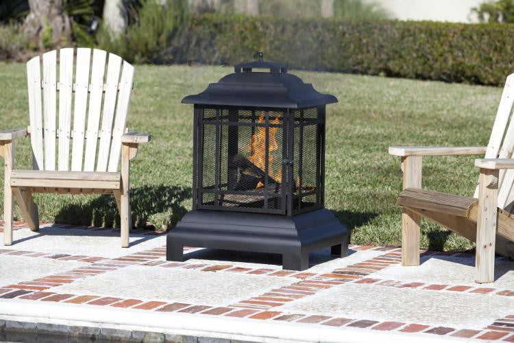 Rectangle Pagoda Patio Fireplace , Well Traveled Living- grayburd
