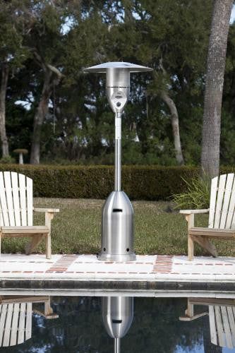 Fire Sense Stainless Steel Deluxe Patio Heater , Well Traveled Living- grayburd