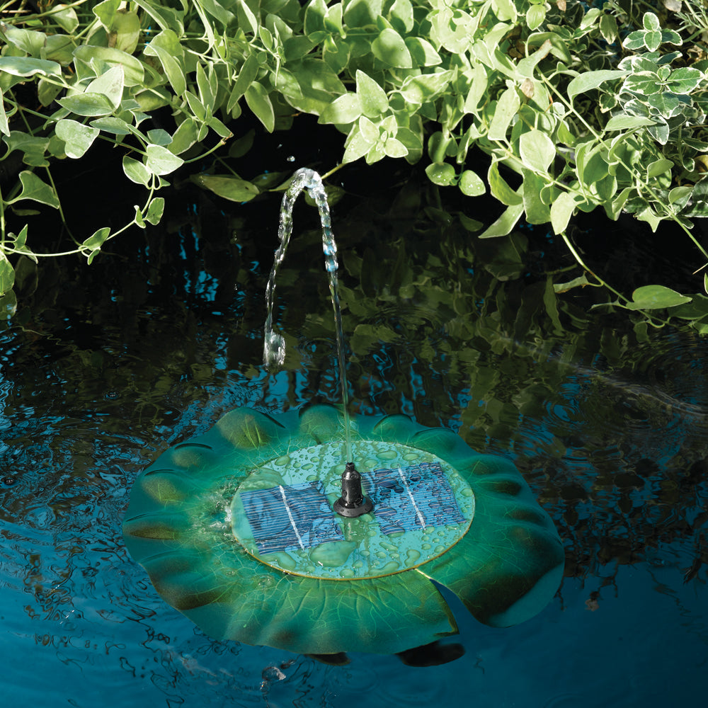 Floating Solar Lily Fountain