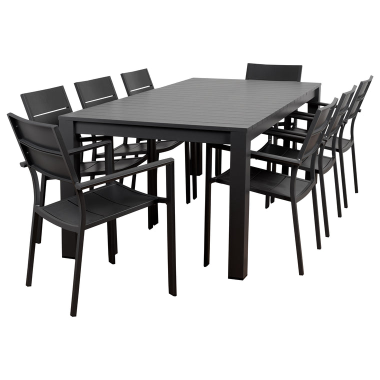 Atlantic Koningsdam 9 Piece Rectangular Patio Dining Set