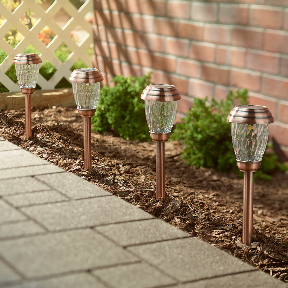 Charleston Solar Pathway Lights - Antique Bronze 6-pack