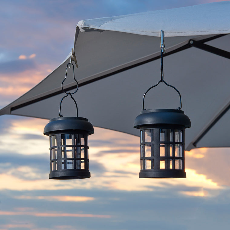 Umbrella Hanging Solar Lantern 2-pack