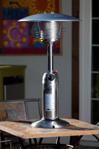 Stainless Steel Table Top Patio Heater , Well Traveled Living- grayburd
