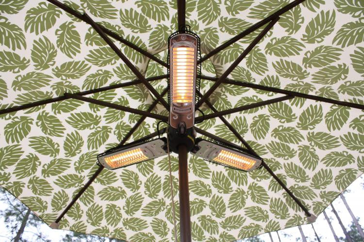 Umbrella Halogen Patio Heater , Well Traveled Living- grayburd