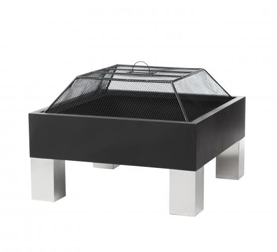 Fire Sense Square Fire Pit , Well Traveled Living- grayburd