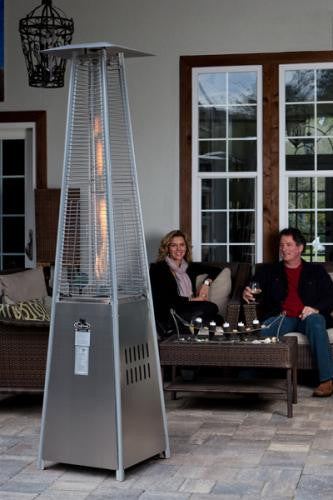 Stainless Steel Pyramid Flame Heater , Well Traveled Living- grayburd