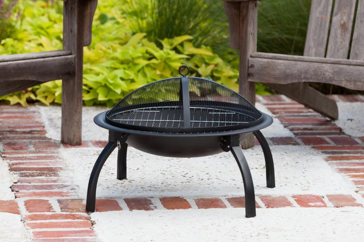 "Fire Sense 22"" Folding Fire Pit , Well Traveled Living- grayburd"