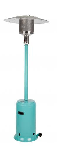 Fire Sense Aqua Blue Powder Coated Patio Heater , Well Traveled Living- grayburd