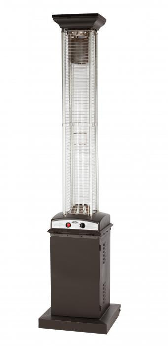 Mocha Square Flame Patio Heater , Well Traveled Living- grayburd