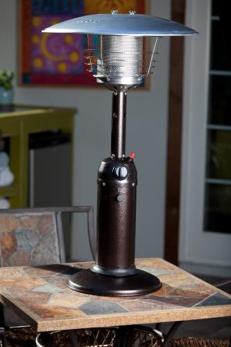 Hammered Bronze Finish Table Top Patio Heater , Well Traveled Living- grayburd
