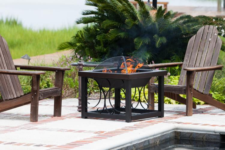 Bronze Hammer Tone Cocktail Table Fire Pit , Well Traveled Living- grayburd