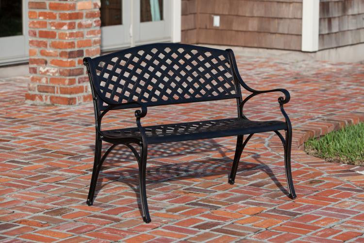 Antique Bronze Cast Aluminum Bench from Patio , Well Traveled Living- grayburd