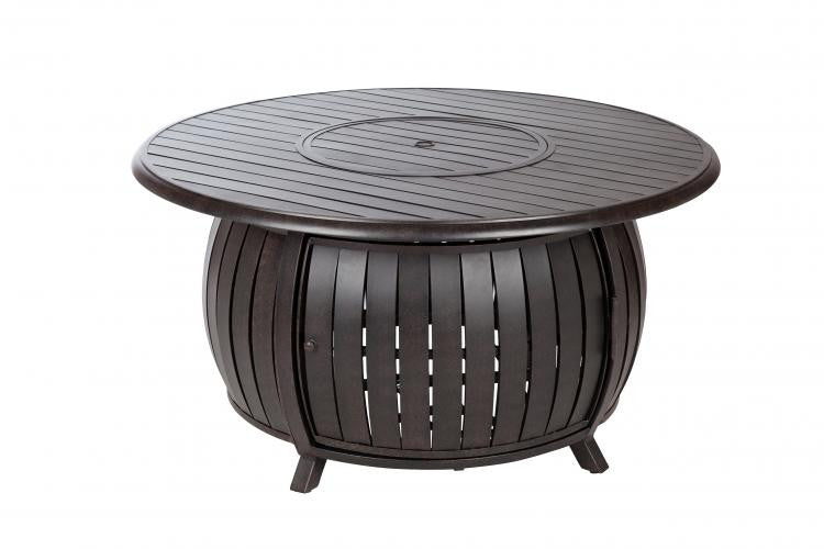 Grand Cooper Extruded Aluminum Round LPG Fire Pit , Well Traveled Living- grayburd