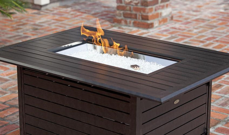 Longmont Extruded Aluminum Rectangular LPG Fire Pit , Well Traveled Living- grayburd