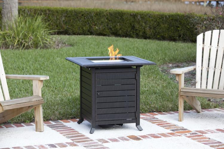 Donato Extruded Aluminum Bistro LPG Fire Pit , Well Traveled Living- grayburd