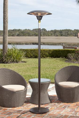 Frisco Bronze Colored Halogen Patio Heater , Well Traveled Living- grayburd