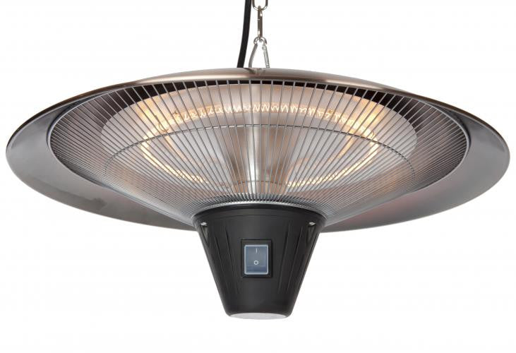 Gunnison Brushed Copper Colored Hanging Halogen Patio Heater , Well Traveled Living- grayburd
