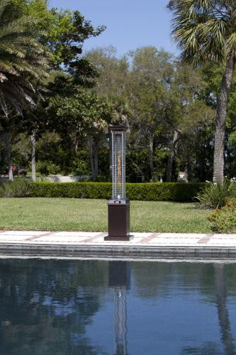 Hammered Bronze Finish Square Flame Patio Heater by Well Traveled , Well Traveled Living- grayburd