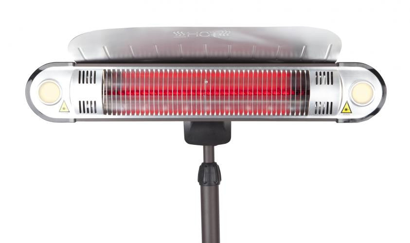 Fire Sense- Alta Floor Standing Halogen Electric Patio Heater , Well Traveled Living- grayburd