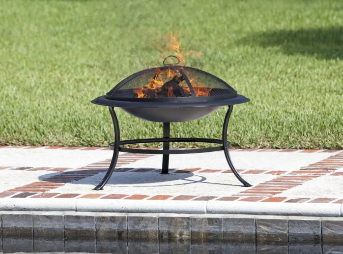 Tokia Round Fire Pit , Well Traveled Living- grayburd