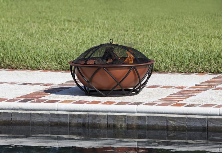Barzelonia Round Copper Fire Pit , Well Traveled Living- grayburd