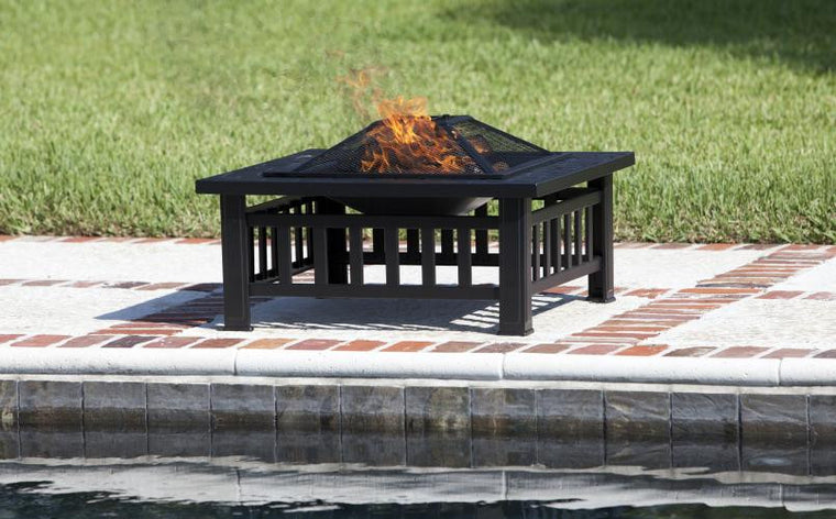 Stonemont Square Fire Pit , Well Traveled Living- grayburd