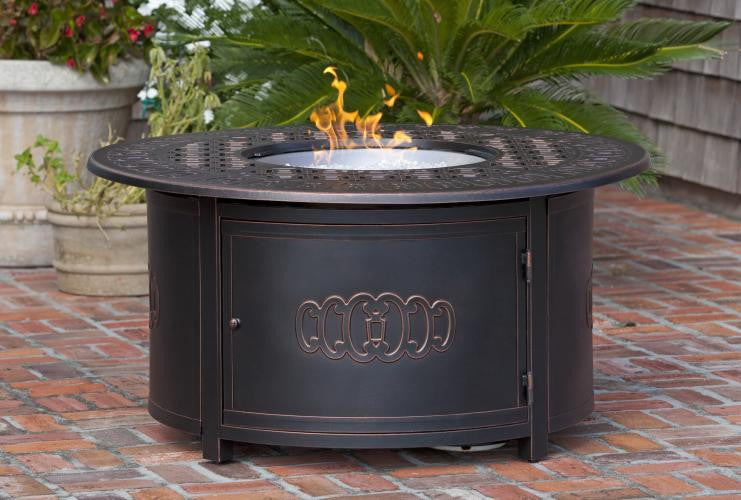 Dynasty Round Cast Aluminum LPG Fire Pit , Well Traveled Living- grayburd