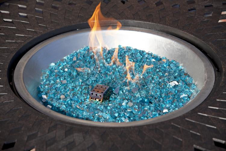 Bahama Blue Reflective Fire Glass , Well Traveled Living- grayburd