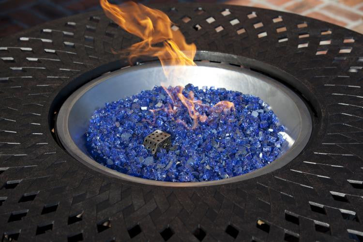 Sapphire Blue Reflective Fire Glass , Well Traveled Living- grayburd