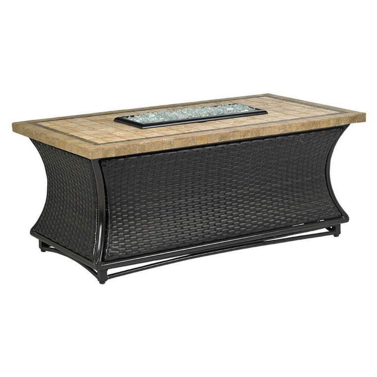 Santa Cruz Square Fire Pit Table With Capistrano Mosaic Top