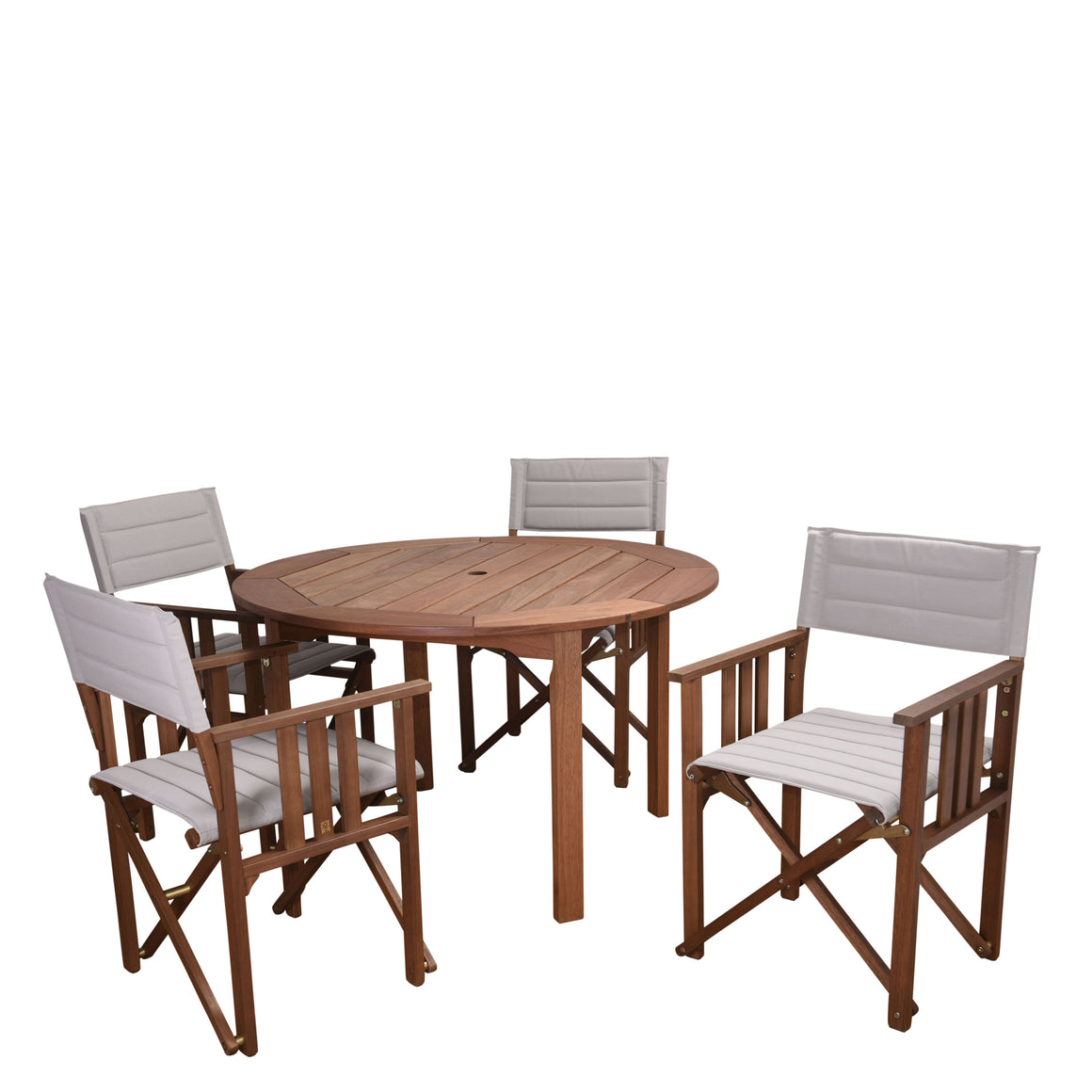 Amazonia Panama 5 Piece Patio Round Dining Set , International Home Miami- grayburd