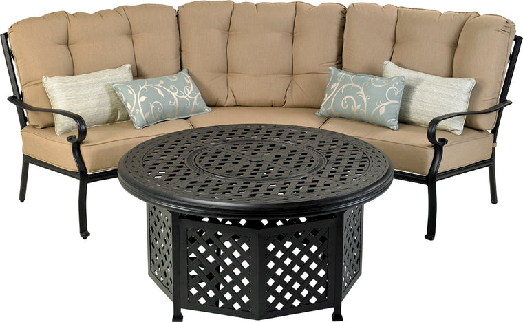 "Bridgetown Curved Seating Group (48"" Fire Table)"