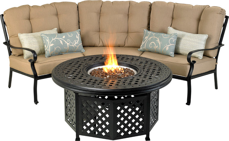 "Bridgetown Curved Seating Group (52"" Fire Table)"