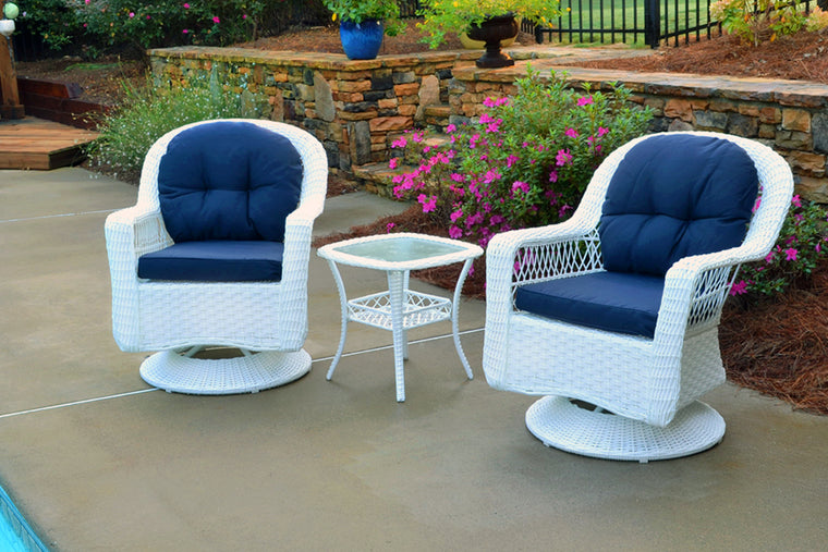 Biloxi 3Pc Bistro Set (2 swivel chairs, bistro table)