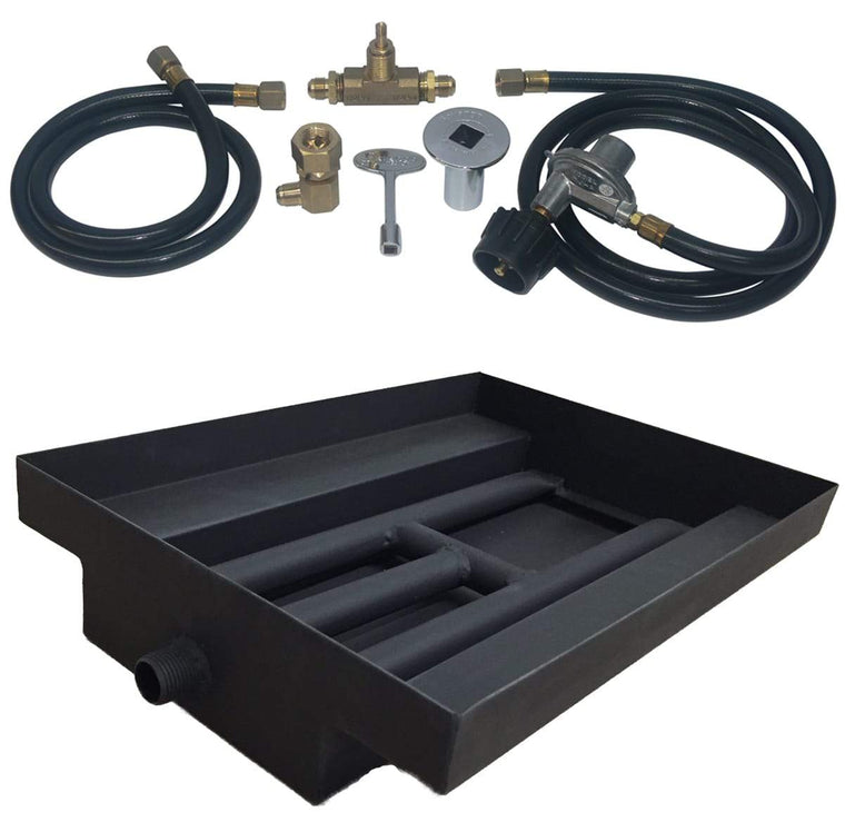 15 inch Powder Coated Burner Island Kit LP - grayburd