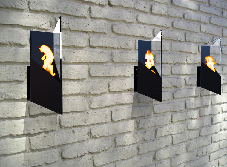 Pure Wall Mounted/Table Top Bio Ethanol Indoor/Outdoor Fireburner , Decorpro- grayburd