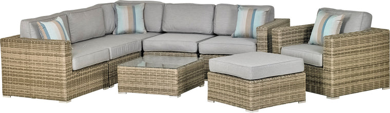 Del Rey 8-Piece Sectional Deep Seating Group (Spectrum Indigo)