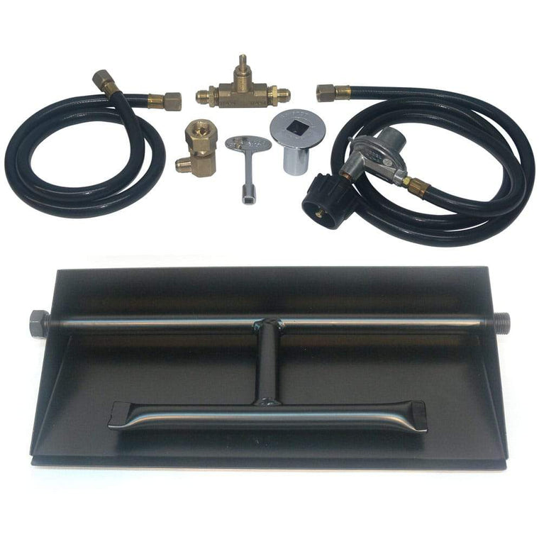 15 inch Powder Coated Dual Burner Pan Kit LP - grayburd