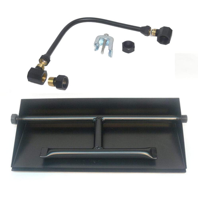 15 inch Powder Coated Dual Burner Pan Kit NG - grayburd